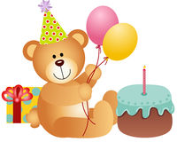 Birthday Teddy Bear Stock Photography