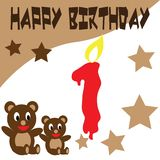 Birthday Teddy Bear Wallpaper Royalty Free Stock Photos