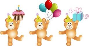 Birthday teddy bears Stock Photography