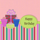Birthday Template greeting card Stock Images