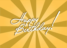 Birthday  template. Happy Birthday  template for a greeting card Stock Images