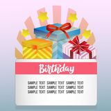 Birthday theme with gift box. Additional file in vector eps 10 file Stock Photo