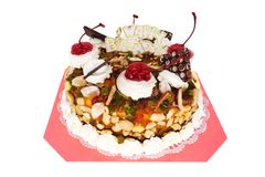 Birthday Torte isolated Royalty Free Stock Photography
