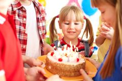 Birthday tradition Royalty Free Stock Photo