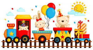 Birthday train Royalty Free Stock Images