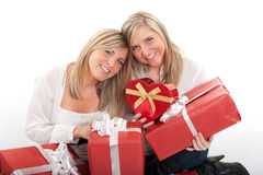 Birthday for twin sisters Royalty Free Stock Images