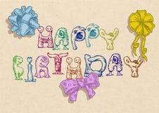 Birthday typography template Stock Photo