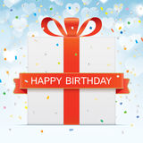Birthday vector greeting card Royalty Free Stock Image