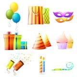 Birthday vector icons set vector illustration