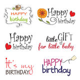 Birthday vector Lettering Series Stock Photo