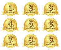 Birthday. Vector logo of birthday wishes on white background stock illustration