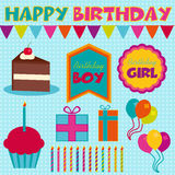 Birthday Vectors Royalty Free Stock Image