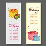 Birthday vertical banner with gift box. Additional in vector 10 file Stock Photography