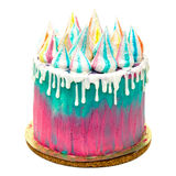 Birthday Vibrant Cake with Colorful Sprinkles Stock Photo