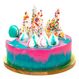 Birthday Vibrant Cake with Colorful Sprinkles Royalty Free Stock Images