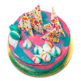Birthday Vibrant Cake with Colorful Sprinkles Royalty Free Stock Image