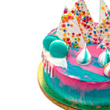 Birthday Vibrant Cake with Colorful Sprinkles Stock Photography