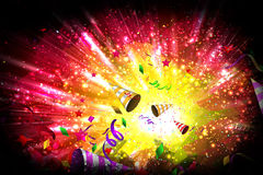 Birthday or vibrant party background Royalty Free Stock Image
