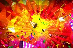 Birthday or vibrant party background. Or parties invitation Stock Image