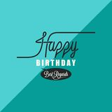 Birthday vintage background Stock Images