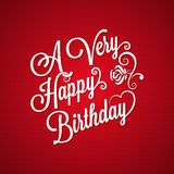 Birthday vintage lettering background Royalty Free Stock Photography