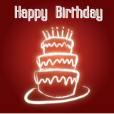 Birthday and wedding cake. Beautiful red birthday and wedding cake background Stock Photos