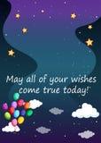 Birthday wish Royalty Free Stock Images