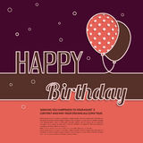 Birthday wish with balloons and text. Stock Photos