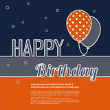 Birthday wish with balloons and text. Royalty Free Stock Photography