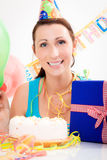 Birthday woman Royalty Free Stock Photo