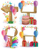 Birthday wooden sign Royalty Free Stock Photos