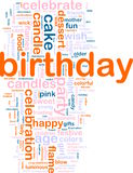 Birthday word cloud Stock Photos