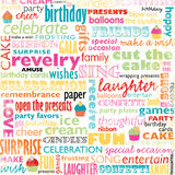 Birthday Word Collage Royalty Free Stock Image