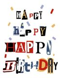 Birthday Word Collage Royalty Free Stock Images