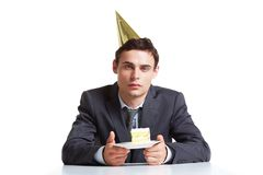 Birthday at work Royalty Free Stock Photography