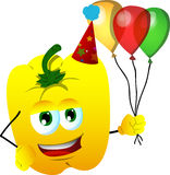 Birthday yellow bell pepper Stock Photography