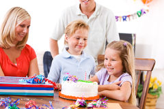 Birthday: Young Girl Ready To Blow Out Birthday Cake Candle Royalty Free Stock Image