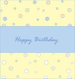 Birthday1 heureux Image stock