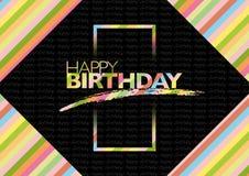 Birthday10 feliz ilustración del vector