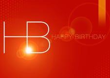 Birthday12 feliz stock de ilustración