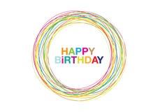 Birthday15 feliz ilustración del vector
