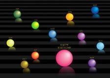 Birthday19 feliz ilustración del vector
