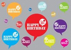 Birthday30 feliz Foto de archivo libre de regalías