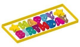 Birthday31 feliz ilustración del vector
