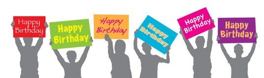 Birthday32 feliz stock de ilustración