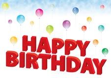 Birthday33 feliz ilustración del vector