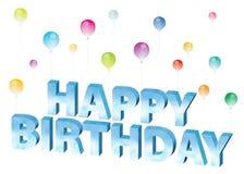 Birthday34 feliz Imagenes de archivo