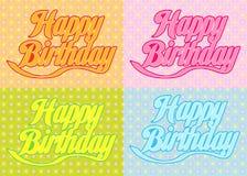 Birthday37 feliz Foto de archivo