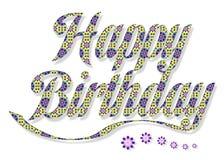 Birthday38 feliz Imagen de archivo libre de regalías