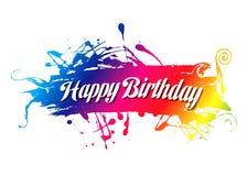 Birthday40 feliz Imágenes de archivo libres de regalías